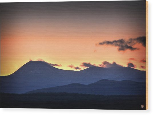 Katahdin Sunset Wood Print