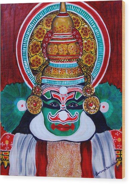 kathakali..Duryodhana Wood Print