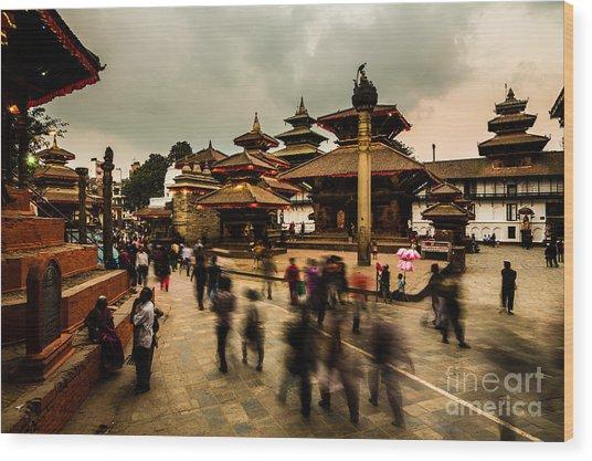 Kathmandu Dream Wood Print