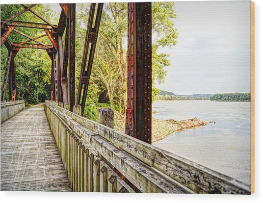 Katy Trail Near Coopers Landing Wood Print