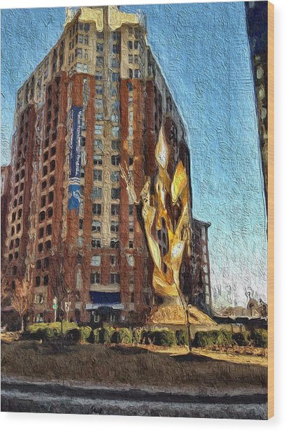 Katyn Memorial In Baltimore Wood Print