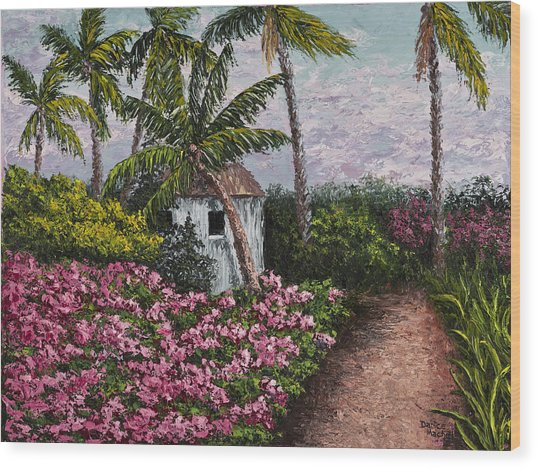 Kauai Flower Garden Wood Print