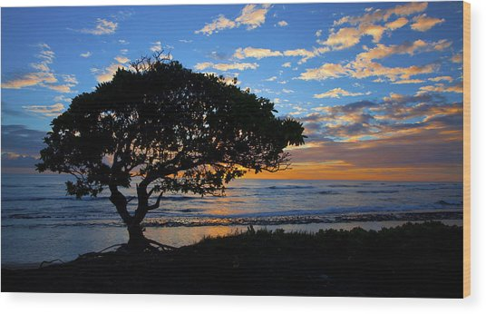 Kauai Sunrise Wood Print