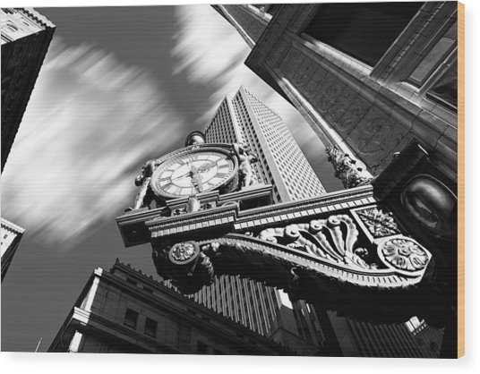 Kaufmann's Clock Wood Print
