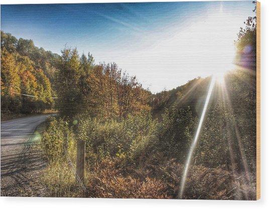 Kawagama Lake Road Wood Print by Lee Burgess