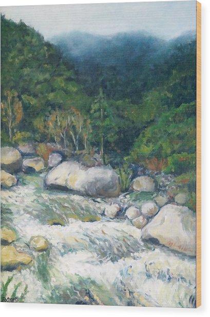 Kaweah River Wood Print