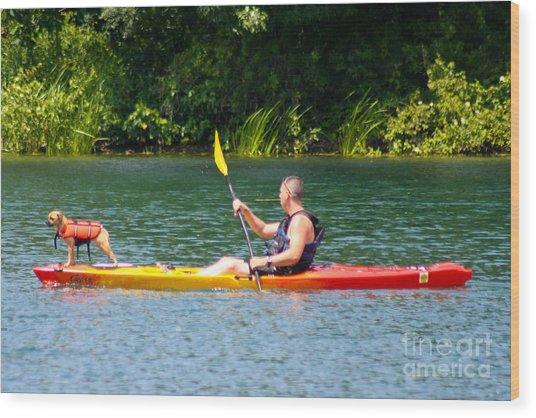 Kayaking Buddies Wood Print
