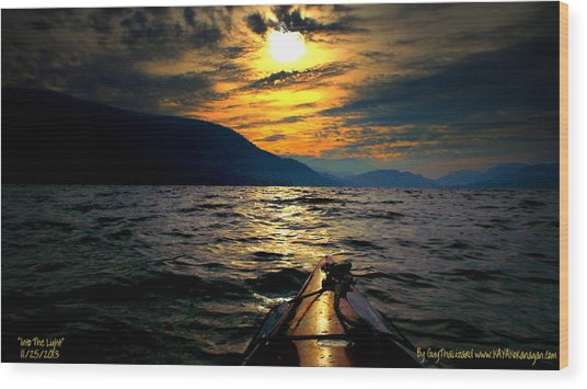 Kayaking Wood Print by Guy Hoffman