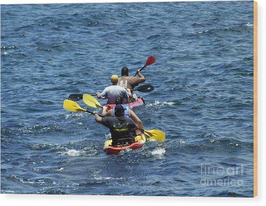Kayaking In Hawaii  Wood Print
