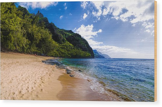 Ke'e Beach Wood Print