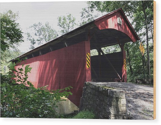 Keefer Station Covered Bridge Wood Print