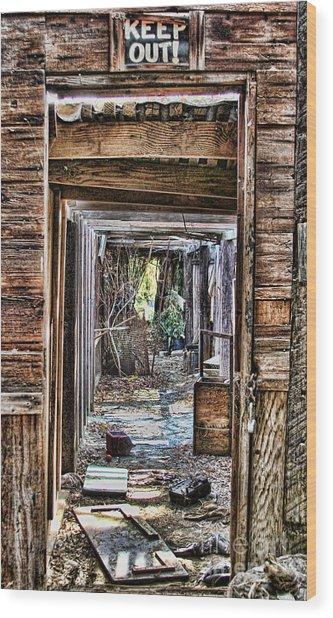Keep Out By Diana Sainz Wood Print