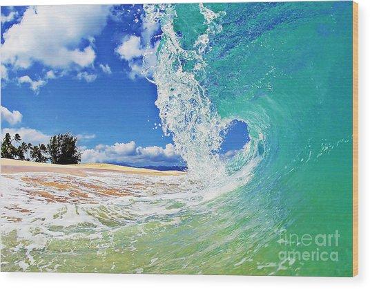 Keiki Beach Wave Wood Print