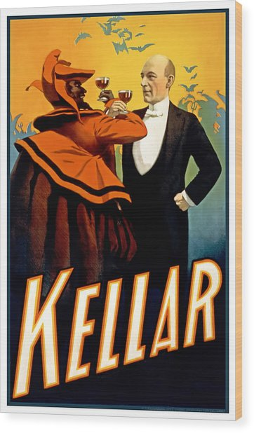 Kellar Toasts The Devil Wood Print