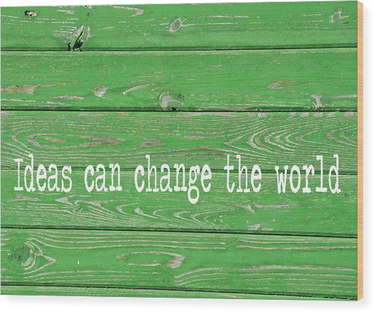 Kelly Colored Quote Wood Print by JAMART Photography