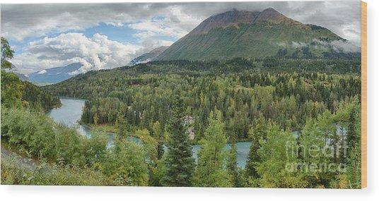 Kenai River Alaska Wood Print by Paul Karanik