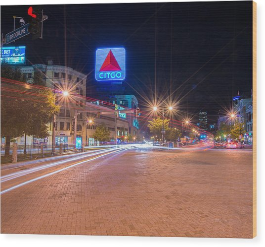 Kenmore Square Wood Print