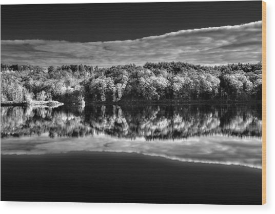 Kennebec Reflections Wood Print