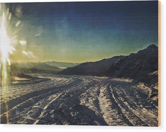 Kennicott Glacier Wood Print