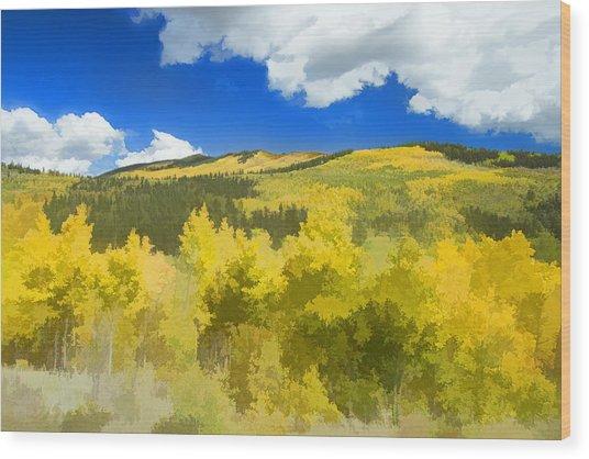 Kenosha Pass Colors Wood Print
