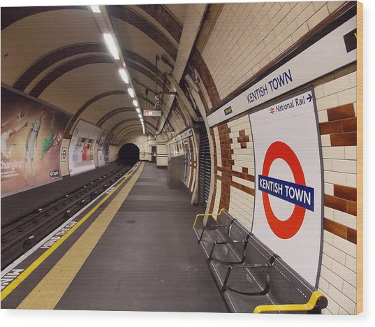 Kentish Town Tube Station Wood Print