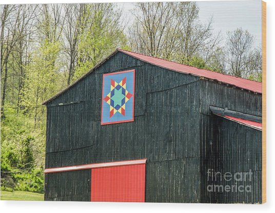 Kentucky Barn Quilt - 2 Wood Print