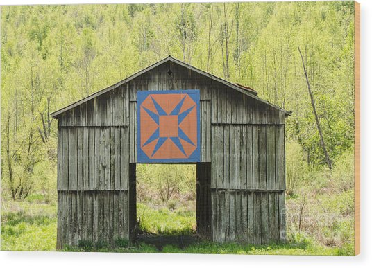 Kentucky Barn Quilt - Happy Hunting Ground Wood Print