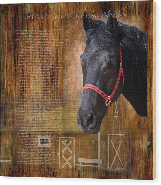 Kentucky Derby Winners Wood Print