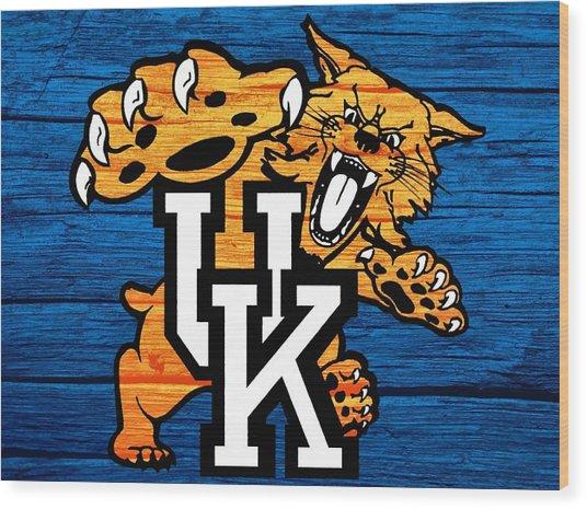 Kentucky Wildcats Barn Door Wood Print