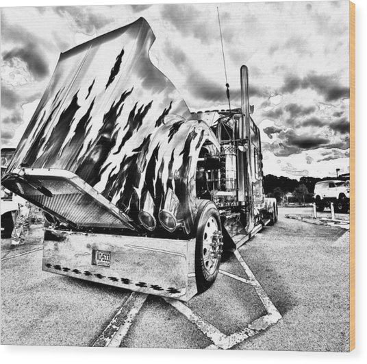 Kenworth Rig Wood Print