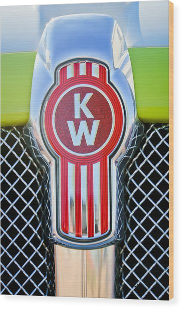 Kenworth Truck Emblem -1196c Wood Print
