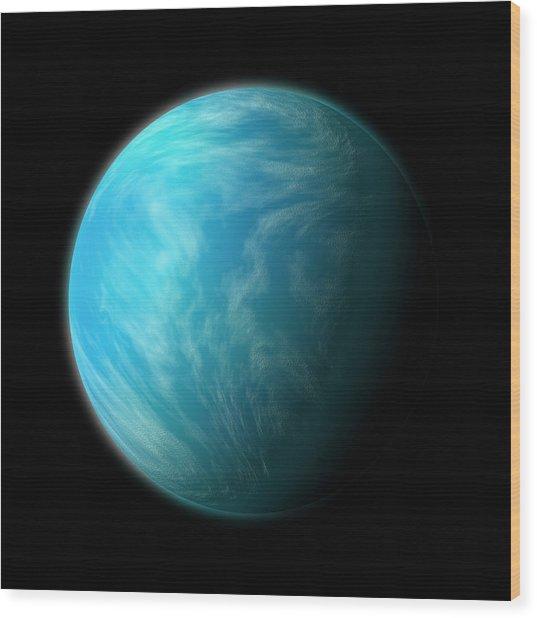 Kepler 22b Wood Print