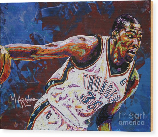 Kevin Durant Wood Print