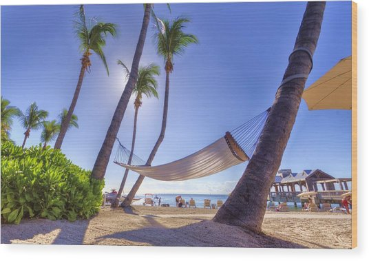 Key West Siesta Wood Print by Danny Mongosa