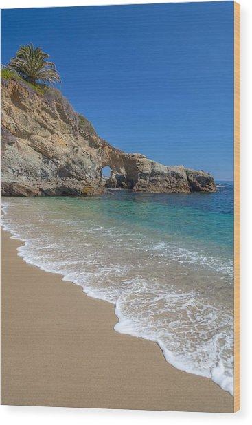 Keyhole Arch Laguna Beach Wood Print