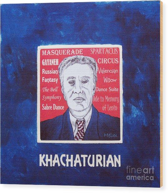 Khachaturian Wood Print by Paul Helm