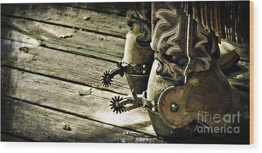 Kick Start Wood Print by Larry Young