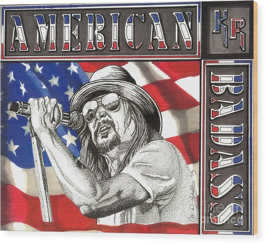Kid Rock American Badass Wood Print