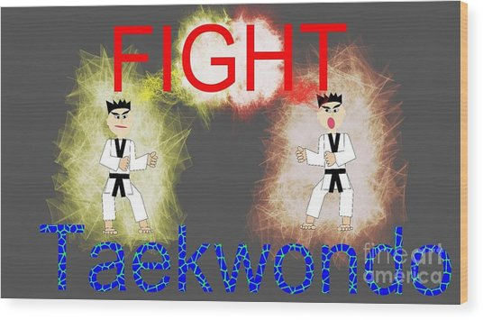 kid's TKD  Wood Print