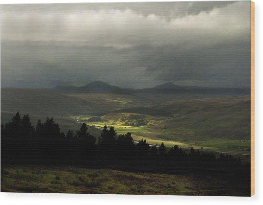 Kildonan Strath Northern Highlands Of Scotland Wood Print
