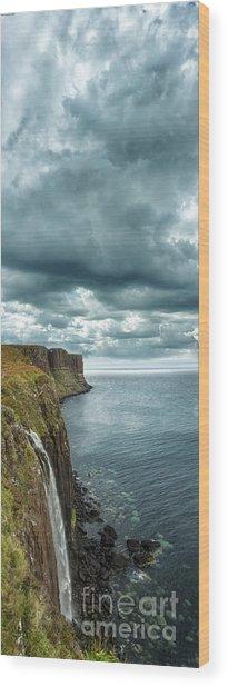 Kilt Rock And Falls Wood Print by Matt  Trimble