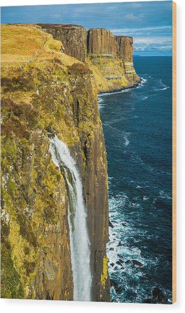 Kilt Rock Isle Of Skye Wood Print by David Ross