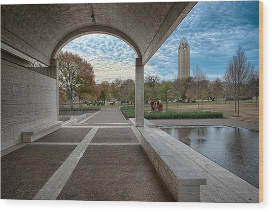 Kimbell Art Museum Fort Worth Wood Print