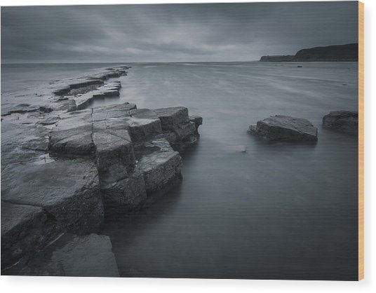 Kimmeridge Gray Wood Print