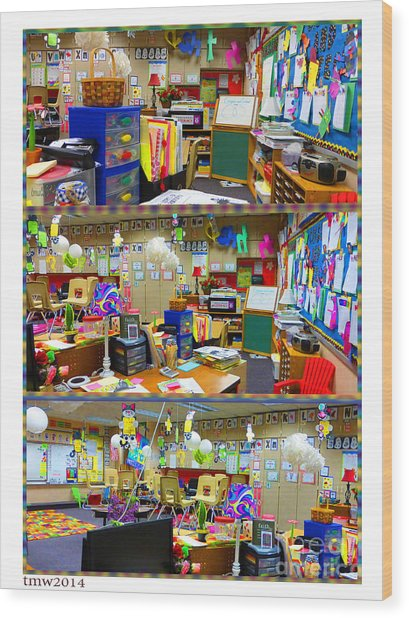 Kindergarten Classroom Wood Print