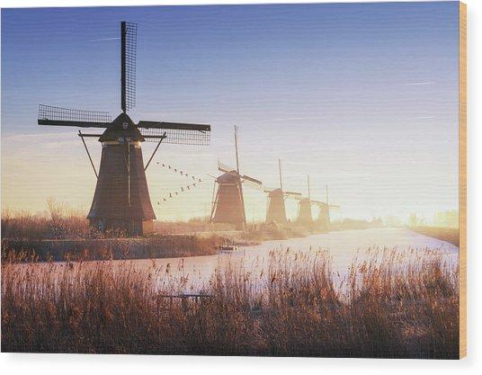 Kinderdijk 4. Wood Print by Juan Pablo De