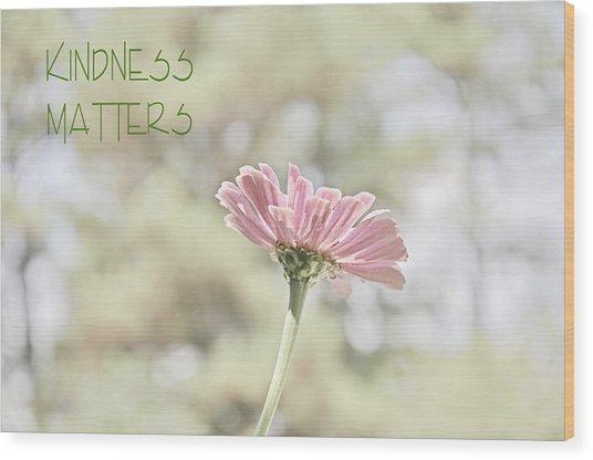 Kindness Matters Wood Print