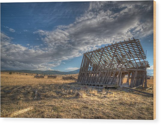 King Homestead Barn Wood Print by Joe Hudspeth