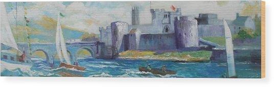 King Johns Castle Limerick Ireland Wood Print