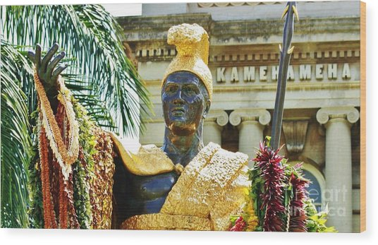 King Kamehameha The First Wood Print by Craig Wood
